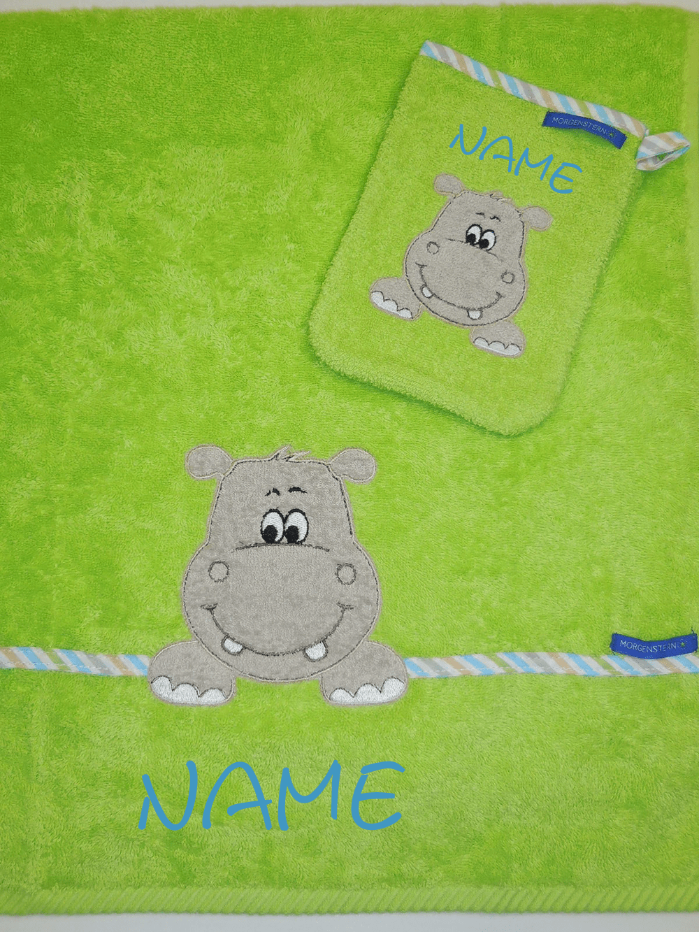 Kinderhandtücher - Hippo