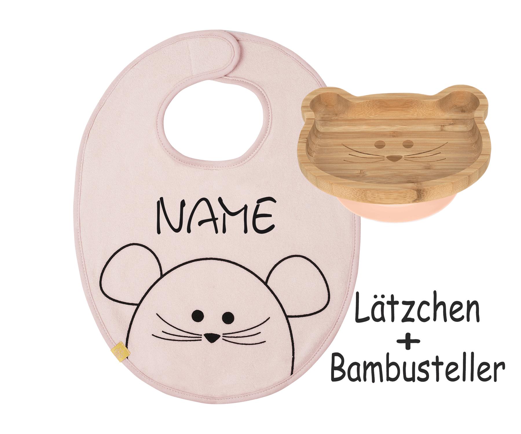 Lätzchen-Maus SET